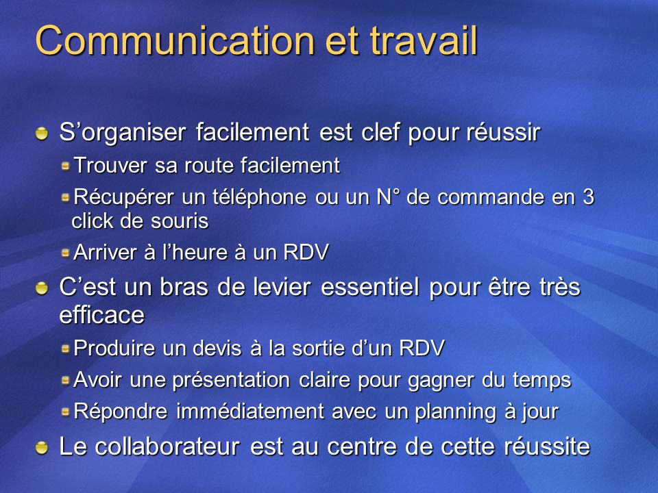 Communication et travail