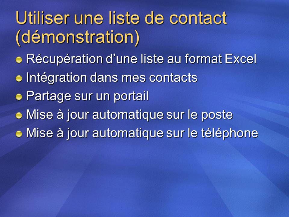 Utiliser une liste de contact (démonstration)