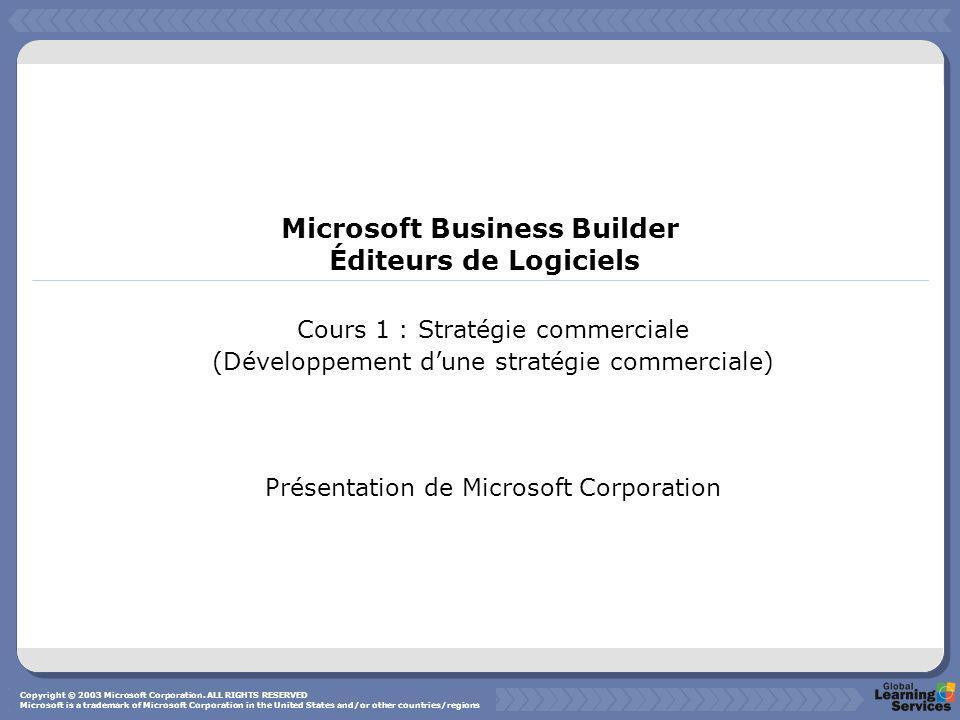 Microsoft Business Builder Éditeurs de Logiciels