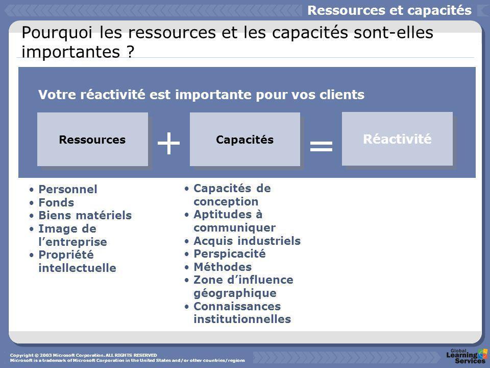Pourquoi les ressources et les capacités sont-elles importantes