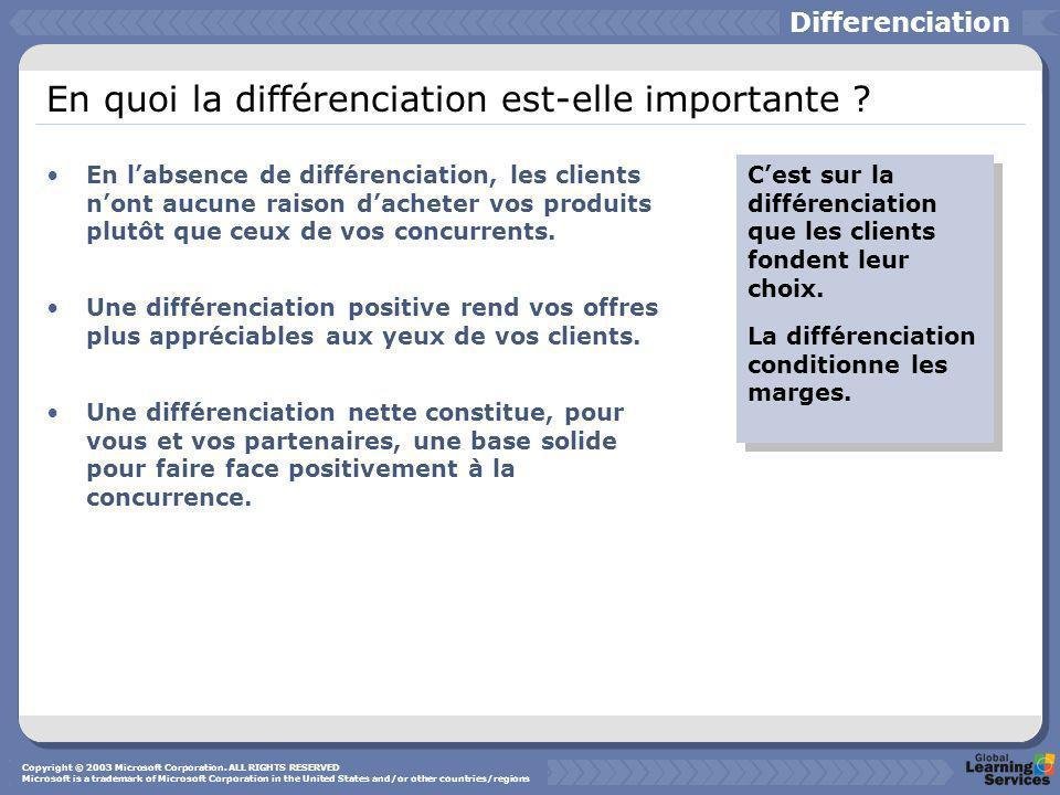 En quoi la différenciation est-elle importante