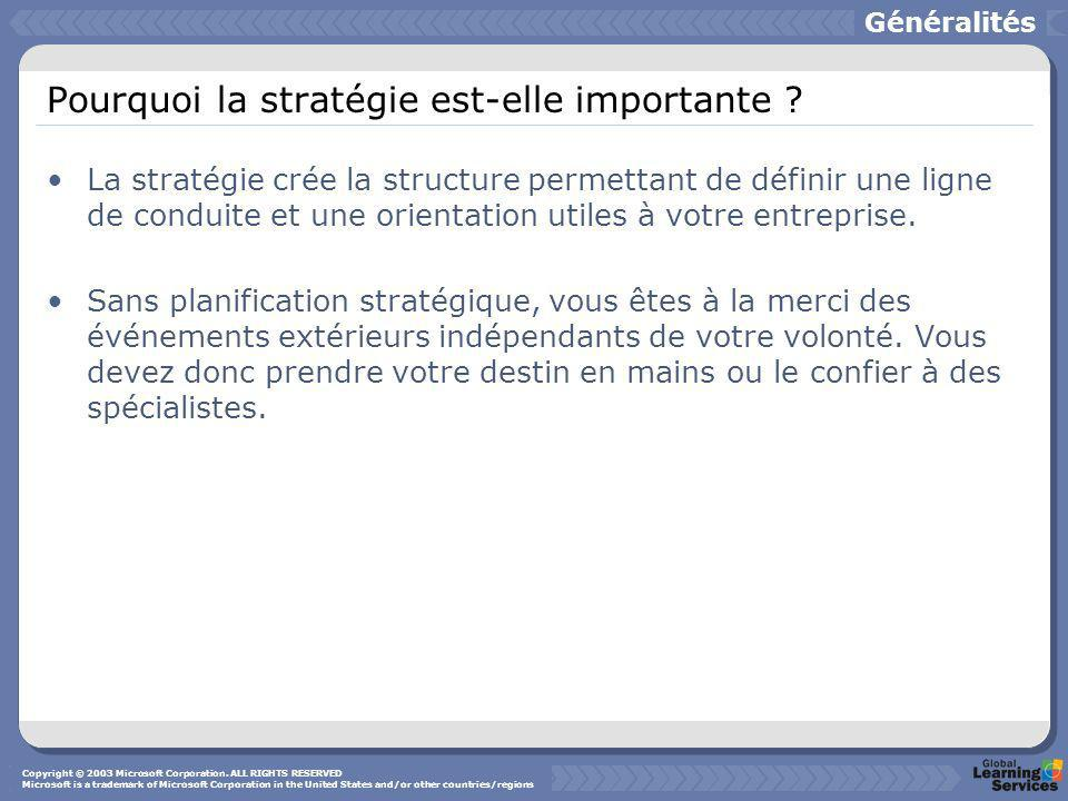 Pourquoi la stratégie est-elle importante