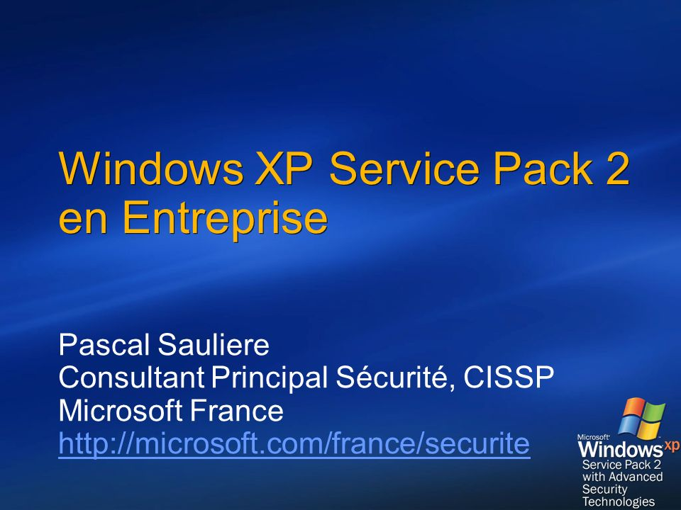 Windows XP Service Pack 2 en Entreprise