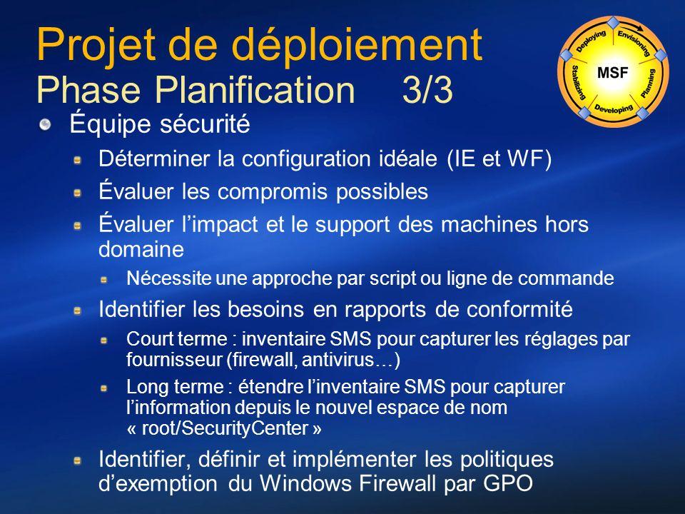 Projet de déploiement Phase Planification 3/3