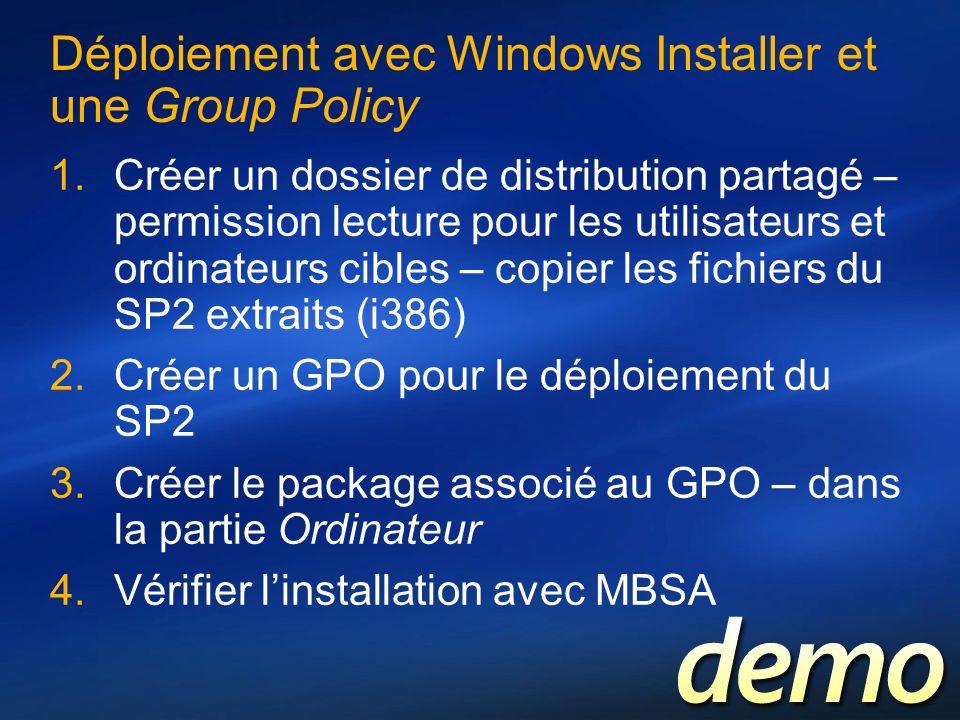 Déploiement avec Windows Installer et une Group Policy