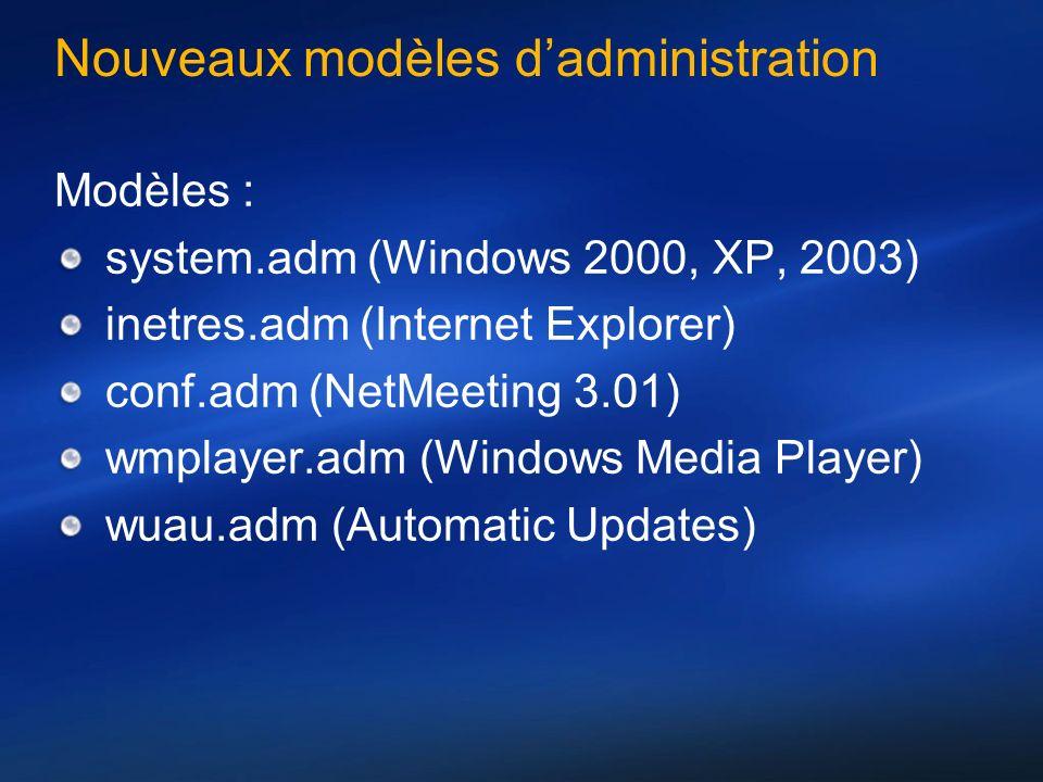 Nouveaux modèles d'administration