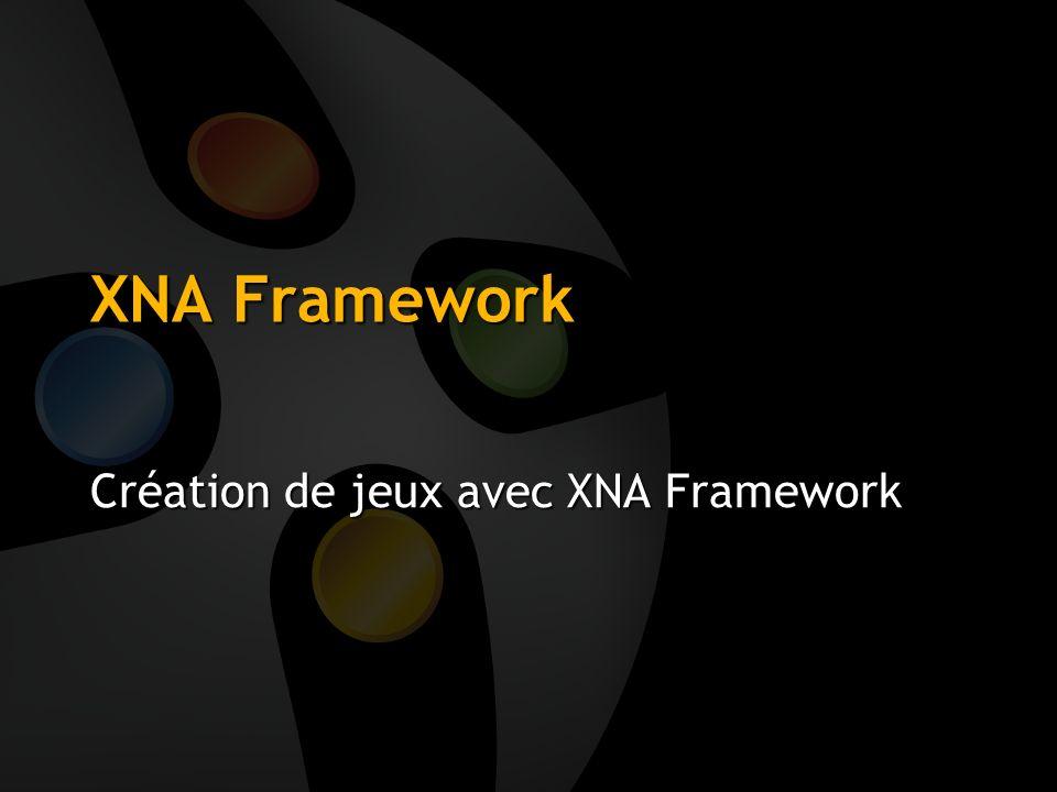 Création de jeux avec XNA Framework