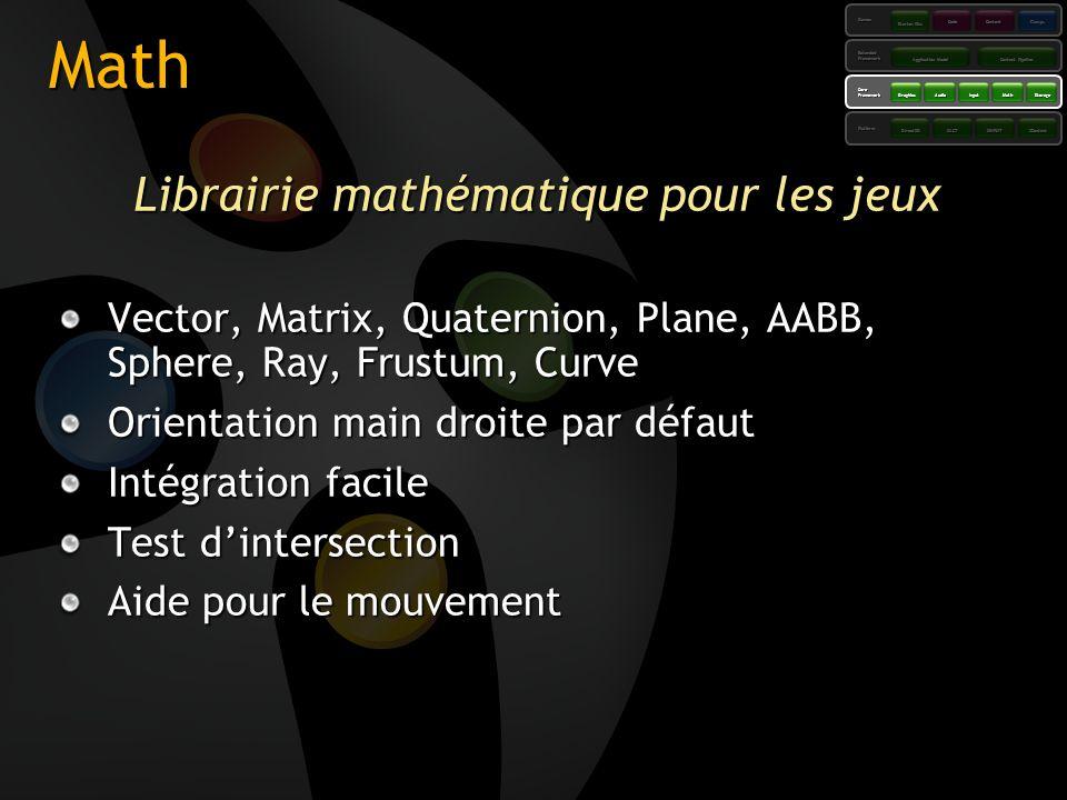 Librairie mathématique pour les jeux