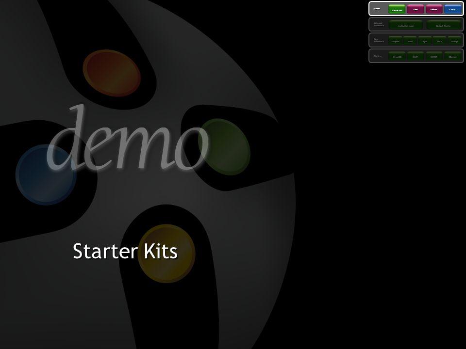 Starter Kits 3/26/2017 3:54 PM 44 Platform Framework Core Extended