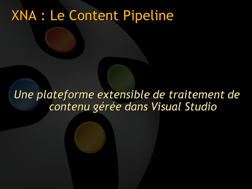 XNA : Le Content Pipeline