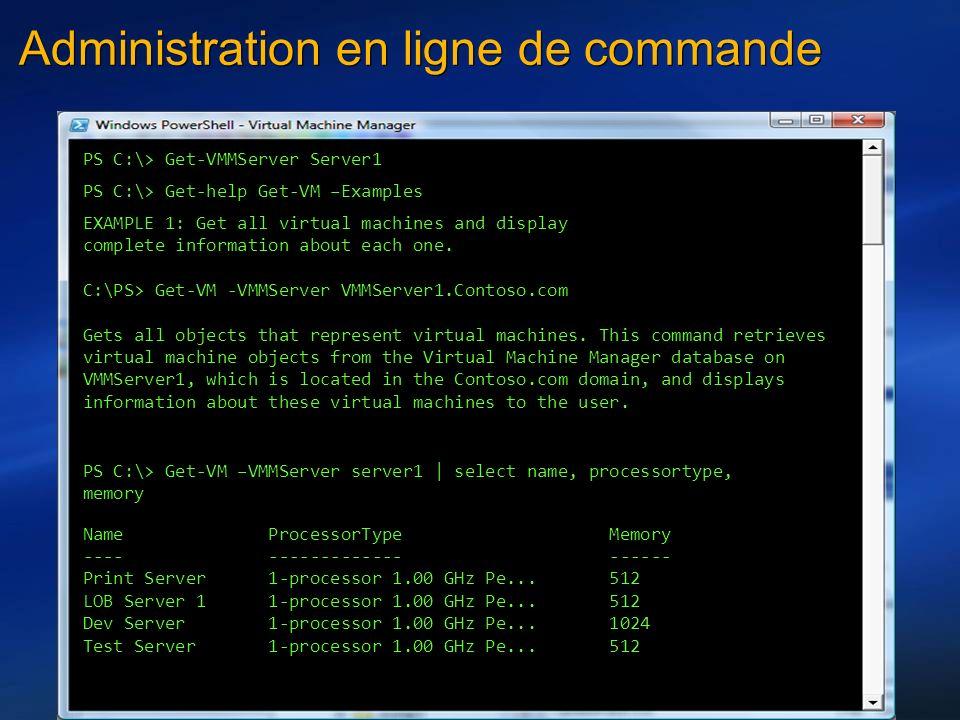 Administration en ligne de commande