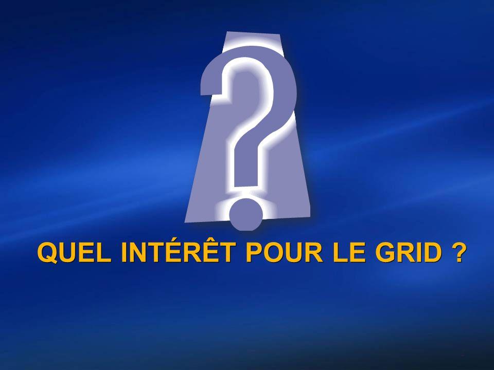 QUEL INTÉRÊT POUR LE GRID