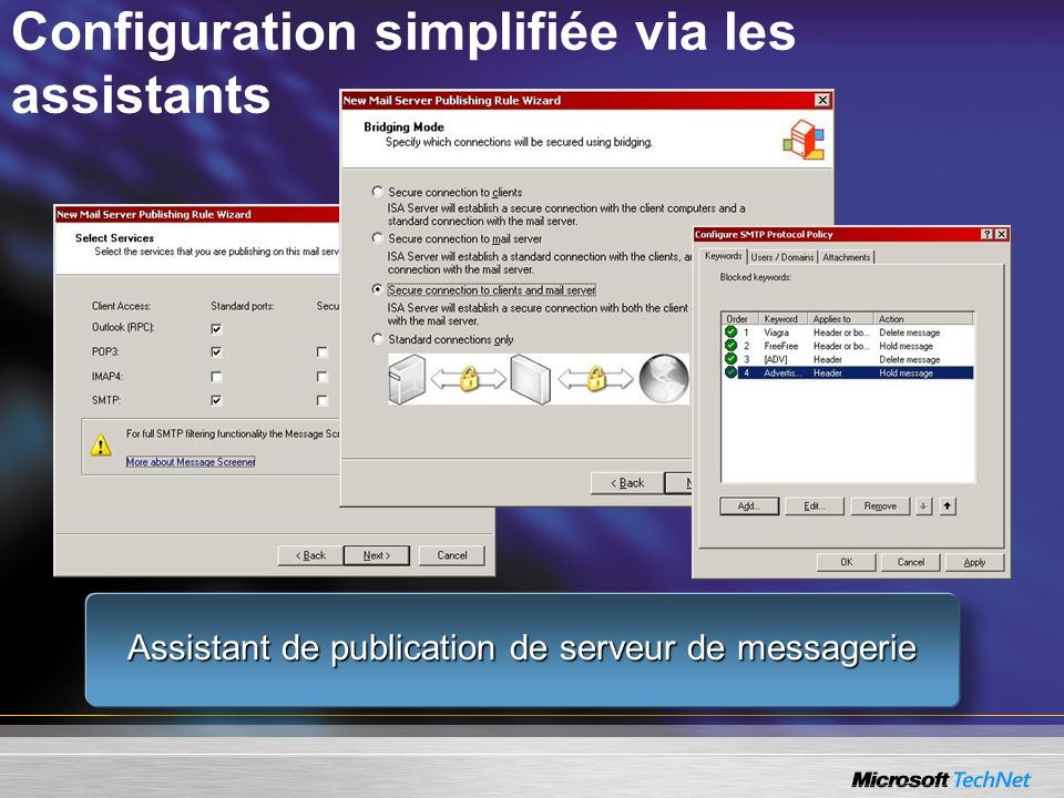 Configuration simplifiée via les assistants