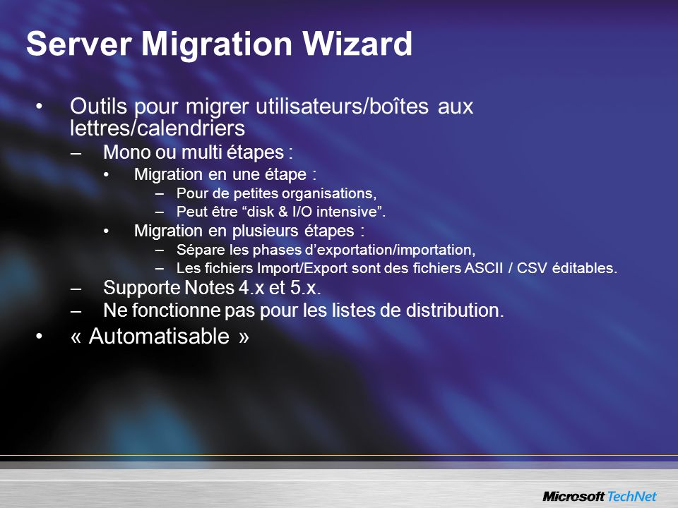 Server Migration Wizard