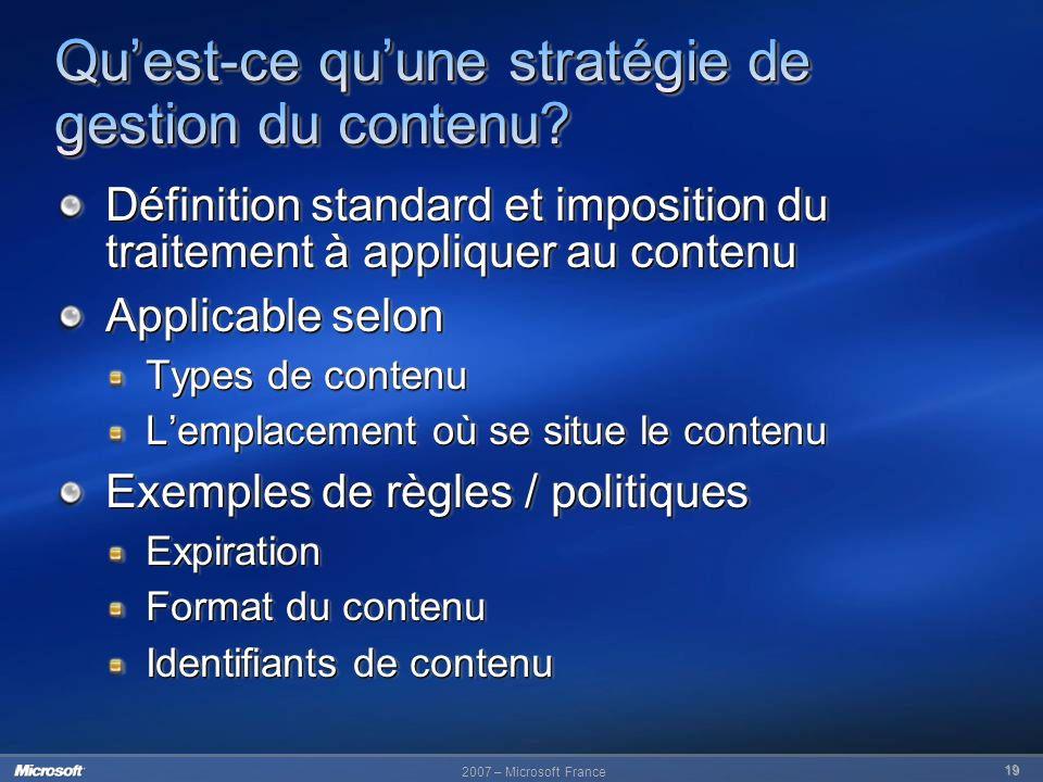 Qu'est-ce qu'une stratégie de gestion du contenu