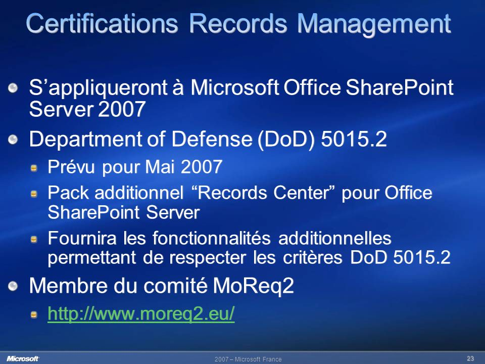 Certifications Records Management
