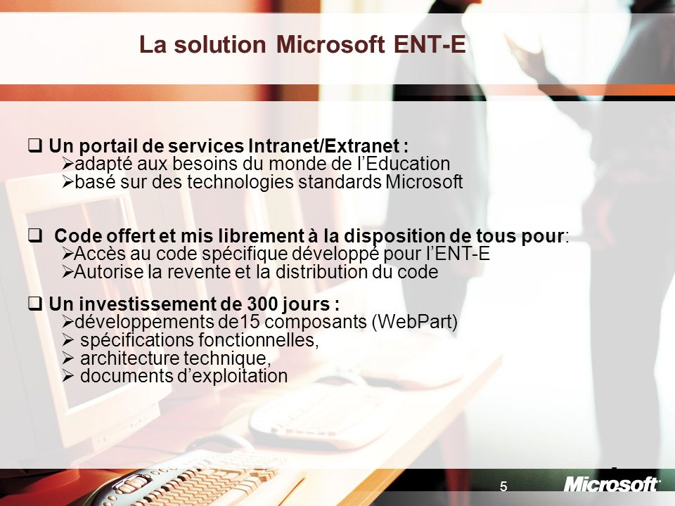 La solution Microsoft ENT-E