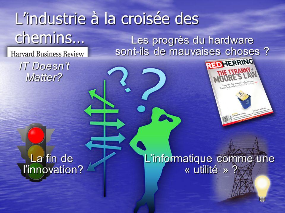 L'industrie à la croisée des chemins…