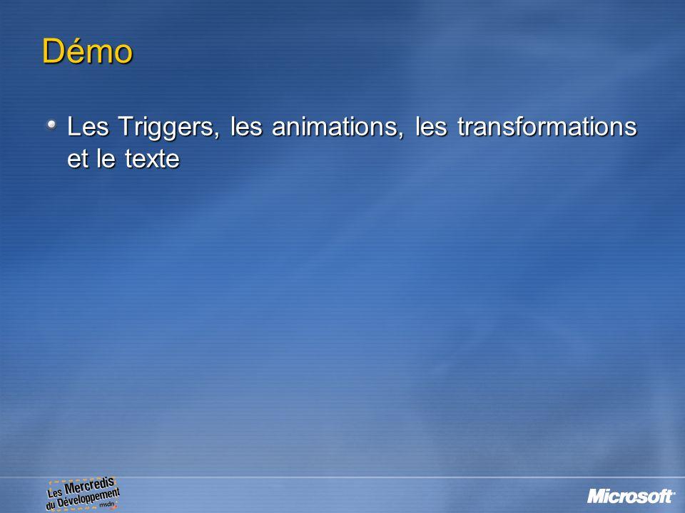 Démo Les Triggers, les animations, les transformations et le texte 12