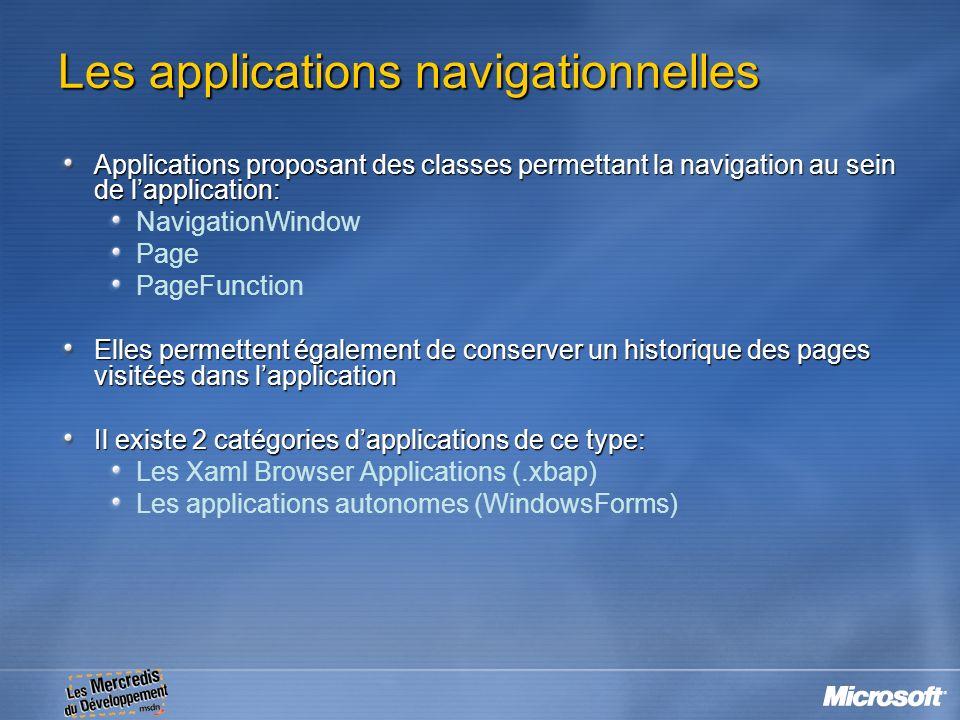Les applications navigationnelles