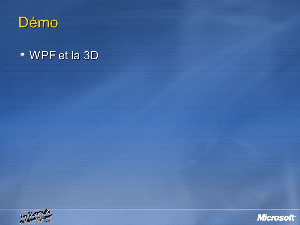 Démo WPF et la 3D 21