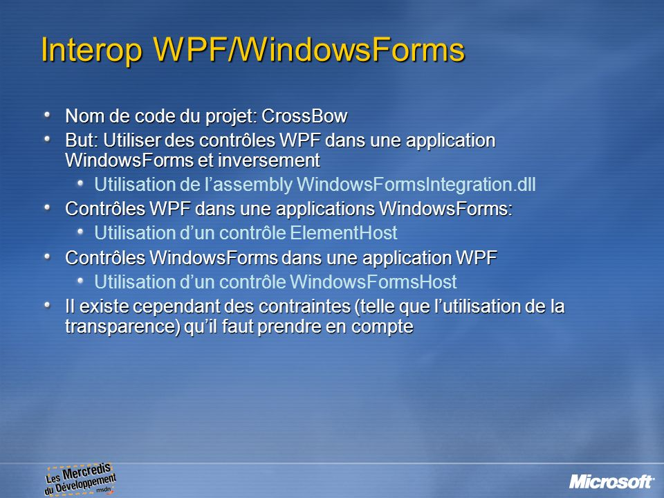 Interop WPF/WindowsForms