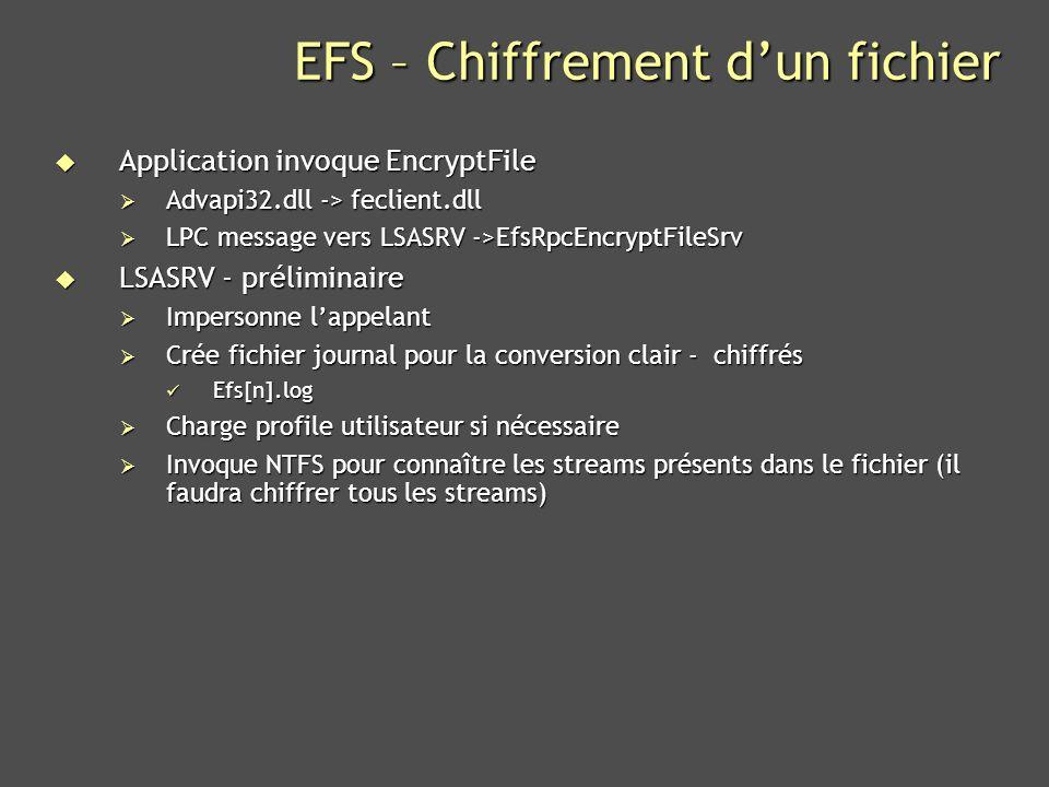 EFS – Chiffrement d'un fichier
