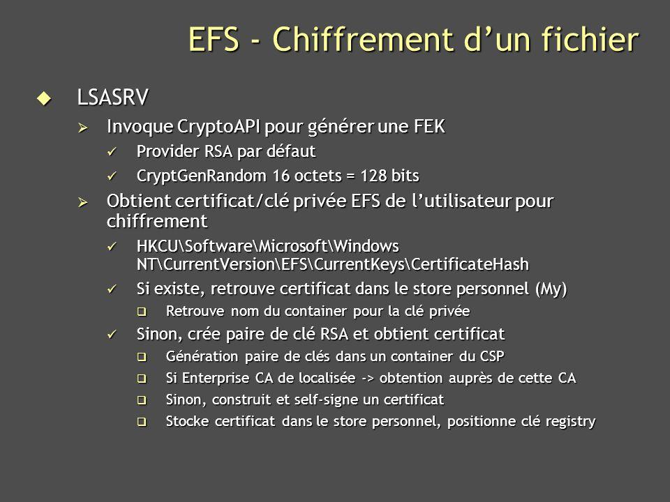 EFS - Chiffrement d'un fichier