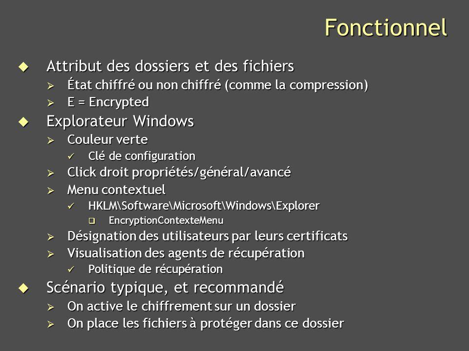 Fonctionnel Attribut des dossiers et des fichiers Explorateur Windows