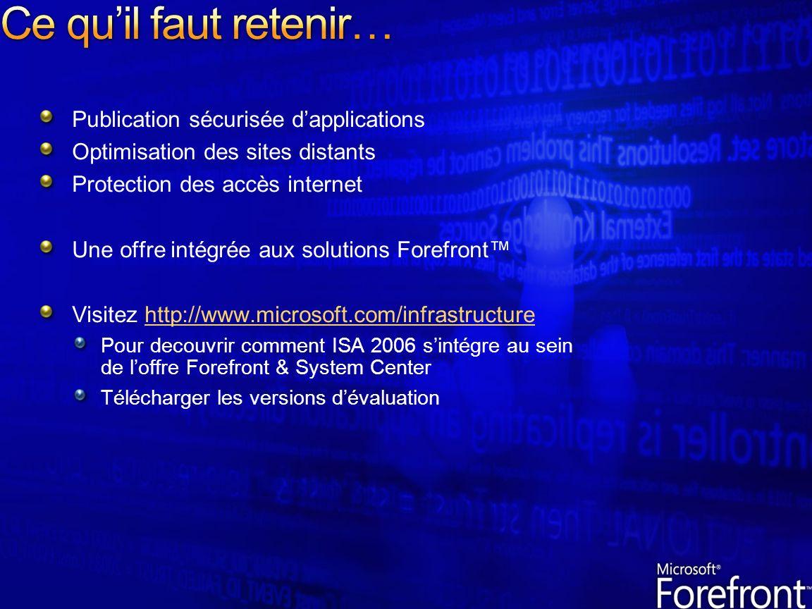 Ce qu'il faut retenir… Publication sécurisée d'applications