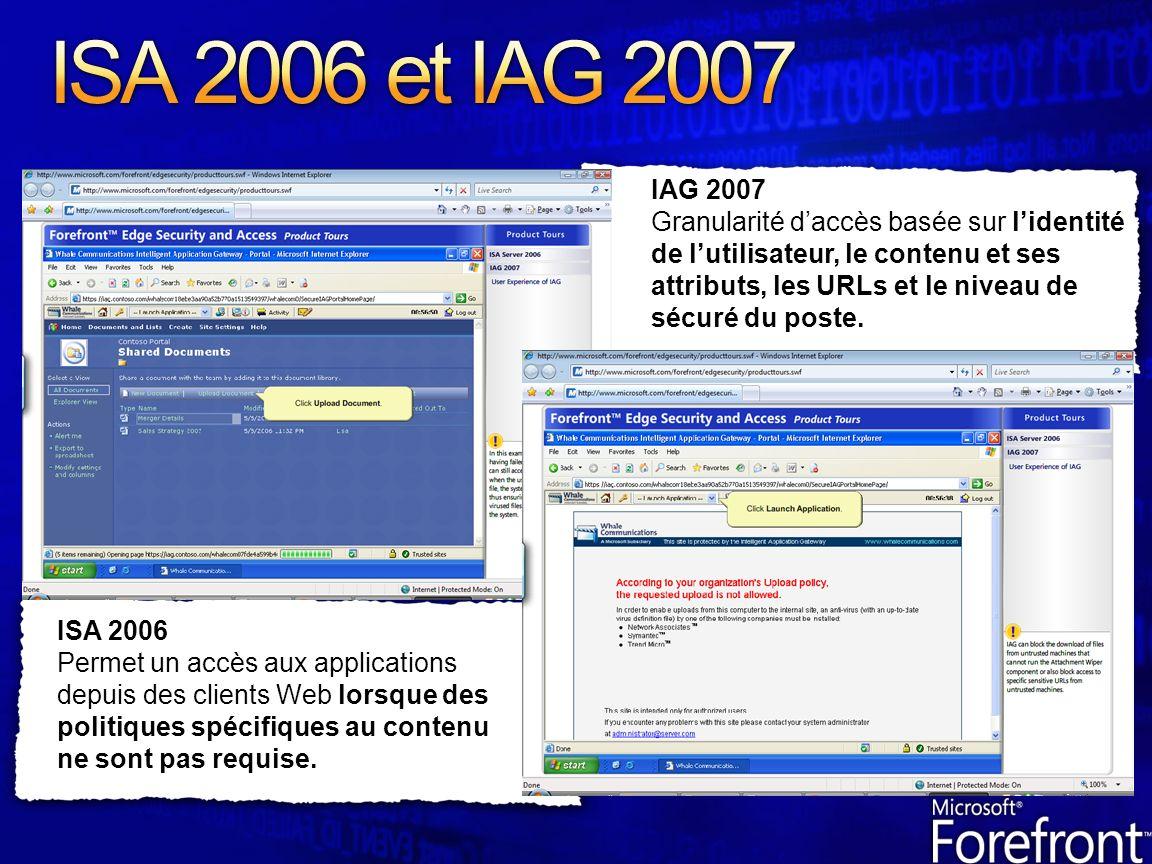ISA 2006 et IAG 2007 IAG 2007.