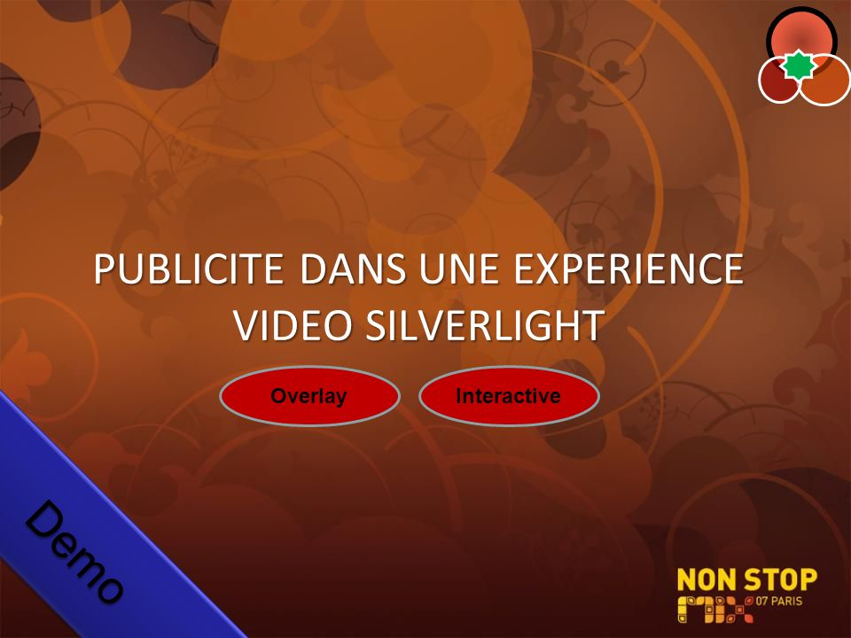 PUBLICITE DANS UNE EXPERIENCE VIDEO SILVERLIGHT