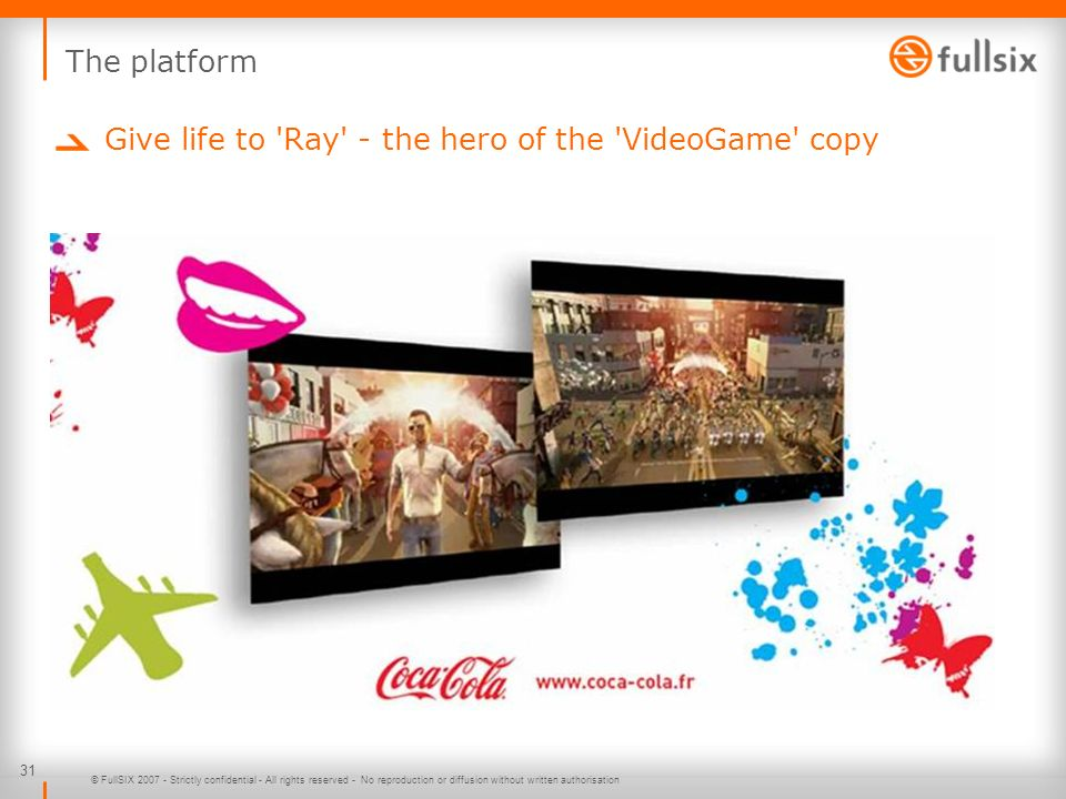 Give life to Ray - the hero of the VideoGame copy
