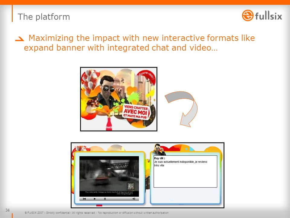 The platform Maximizing the impact with new interactive formats like expand banner with integrated chat and video…