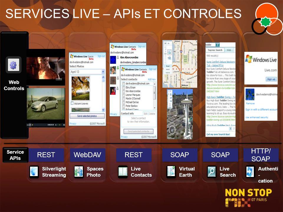 SERVICES LIVE – APIs ET CONTROLES