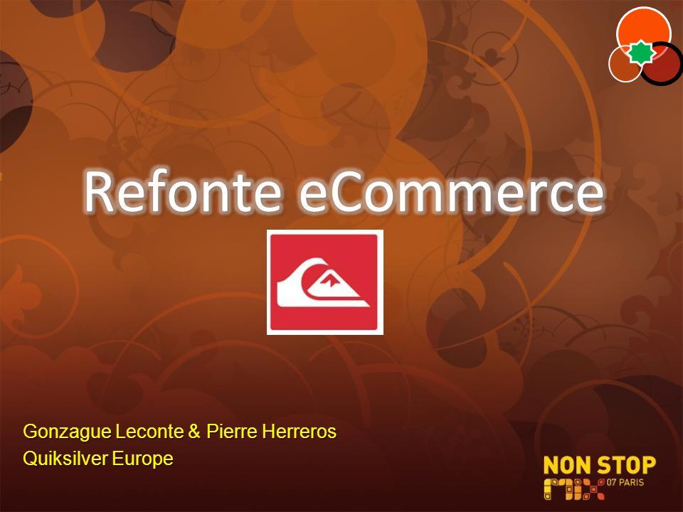 Refonte eCommerce Gonzague Leconte & Pierre Herreros Quiksilver Europe