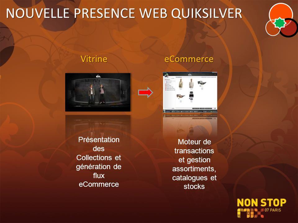 NOUVELLE PRESENCE WEB QUIKSILVER