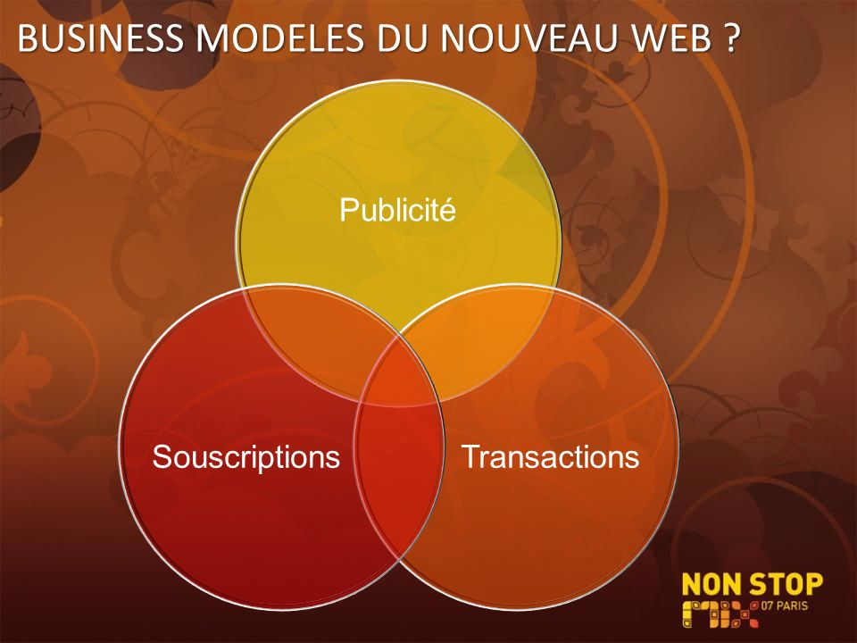 BUSINESS MODELES DU NOUVEAU WEB