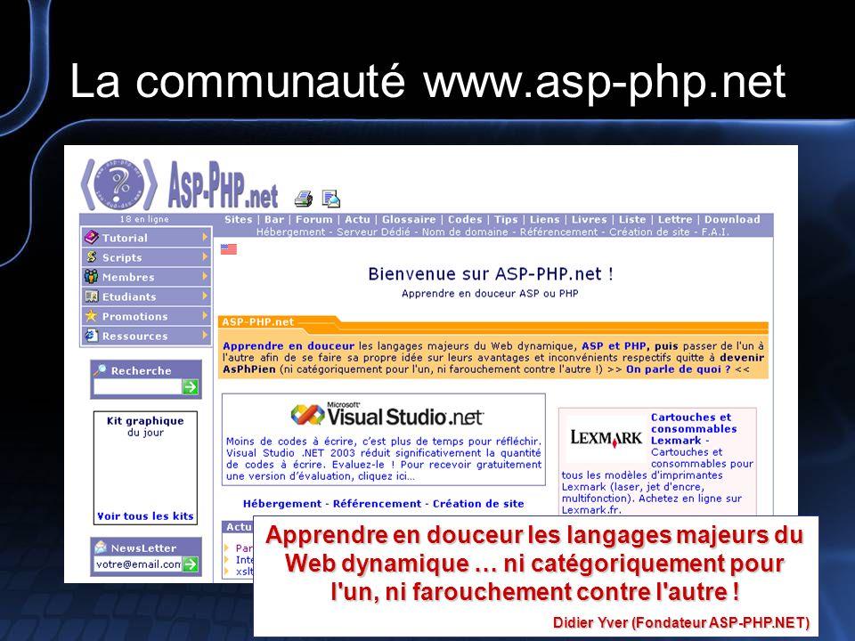 La communauté www.asp-php.net