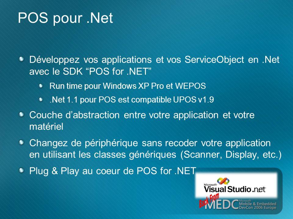 3/26/2017 3:54 PM POS pour .Net. Développez vos applications et vos ServiceObject en .Net avec le SDK POS for .NET