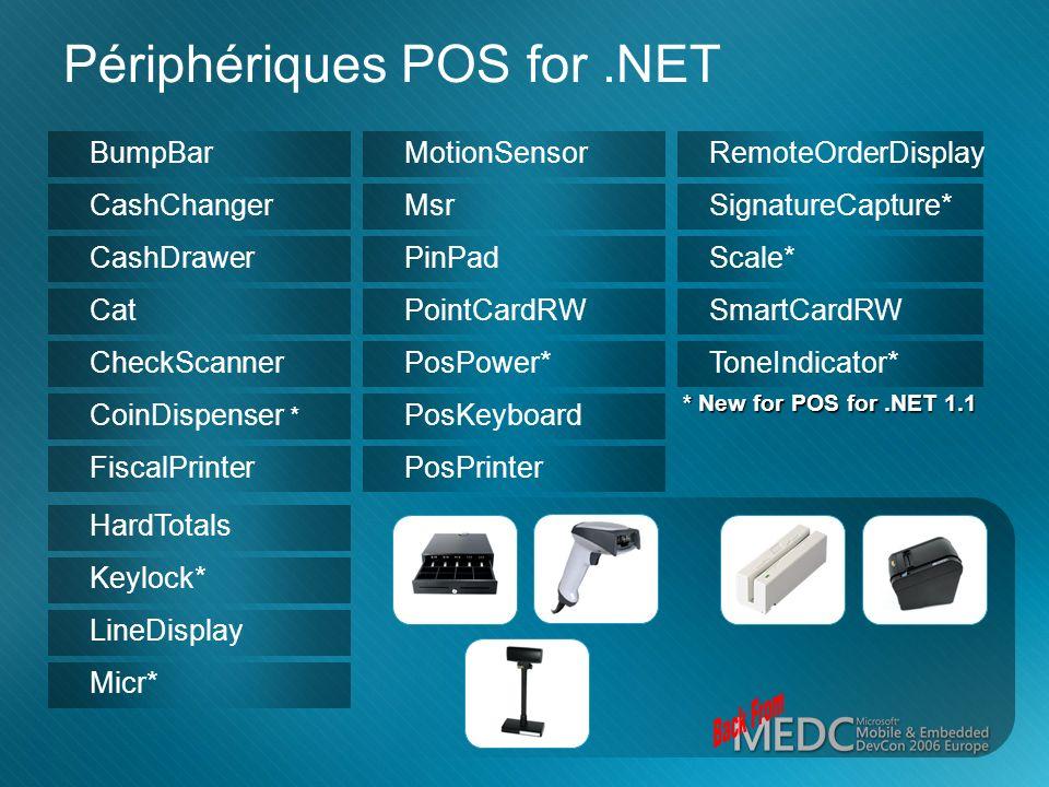 Périphériques POS for .NET