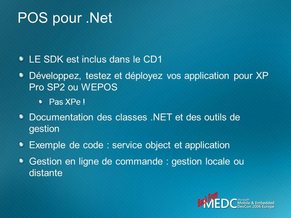 Back From POS pour .Net LE SDK est inclus dans le CD1