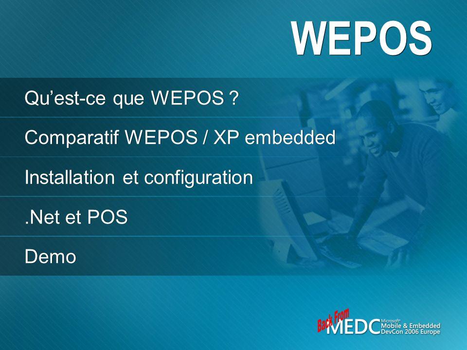 WEPOS Back From Qu'est-ce que WEPOS Comparatif WEPOS / XP embedded