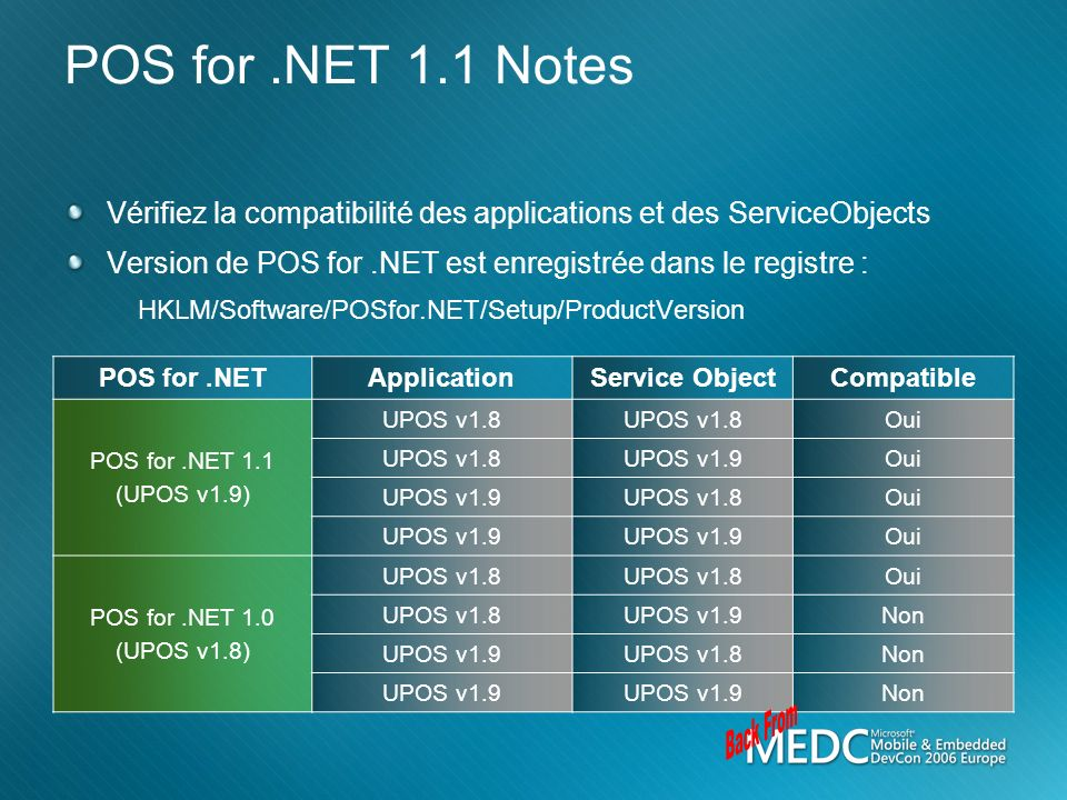 Back From POS for .NET 1.1 Notes