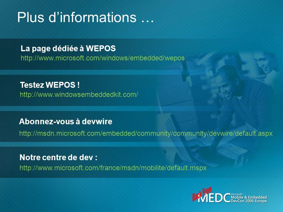 Back From Plus d'informations … La page dédiée à WEPOS Testez WEPOS !
