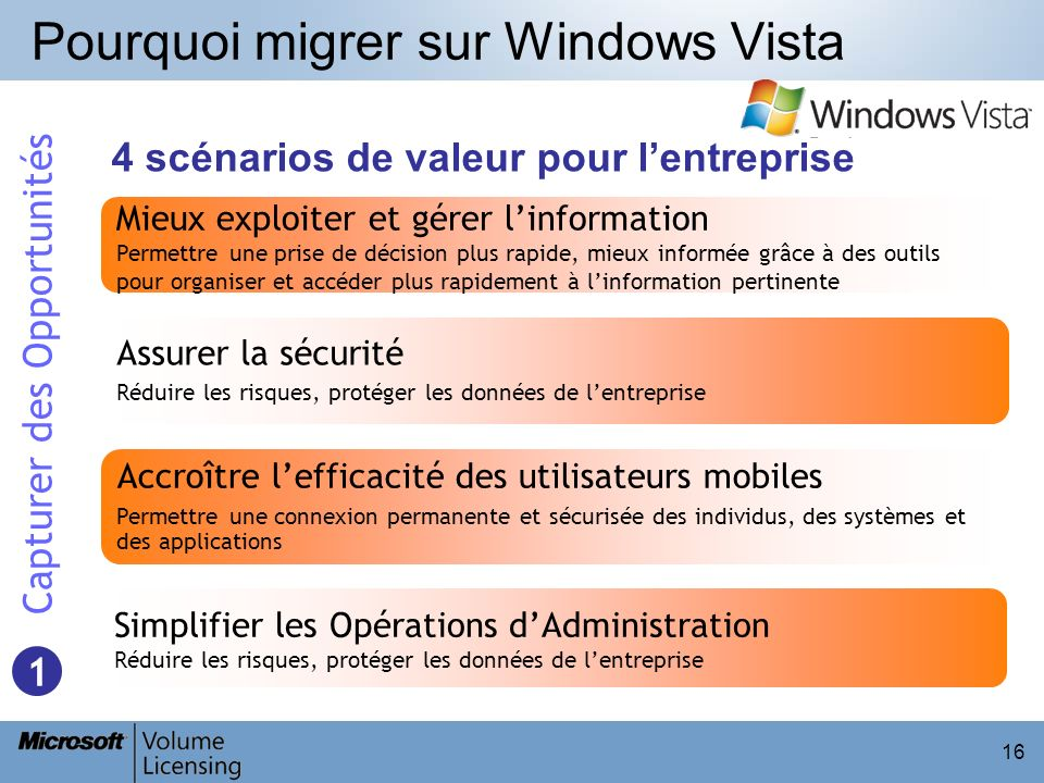 Pourquoi migrer sur Windows Vista