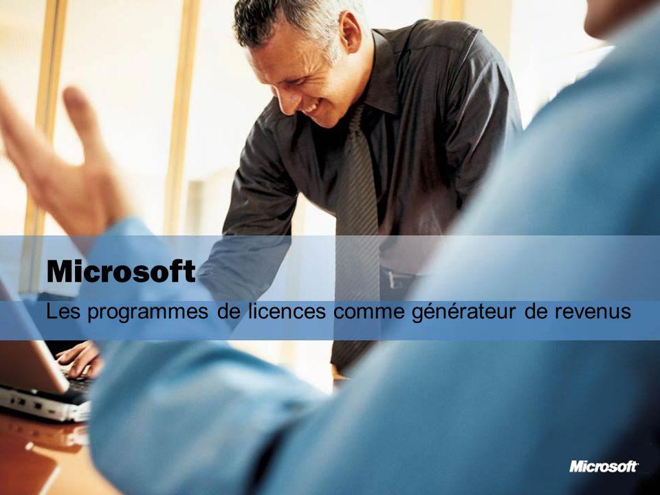 Microsoft Les programmes de licences comme générateur de revenus