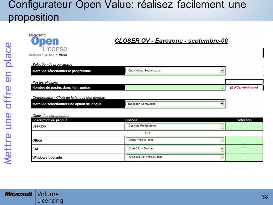 Configurateur Open Value: réalisez facilement une proposition