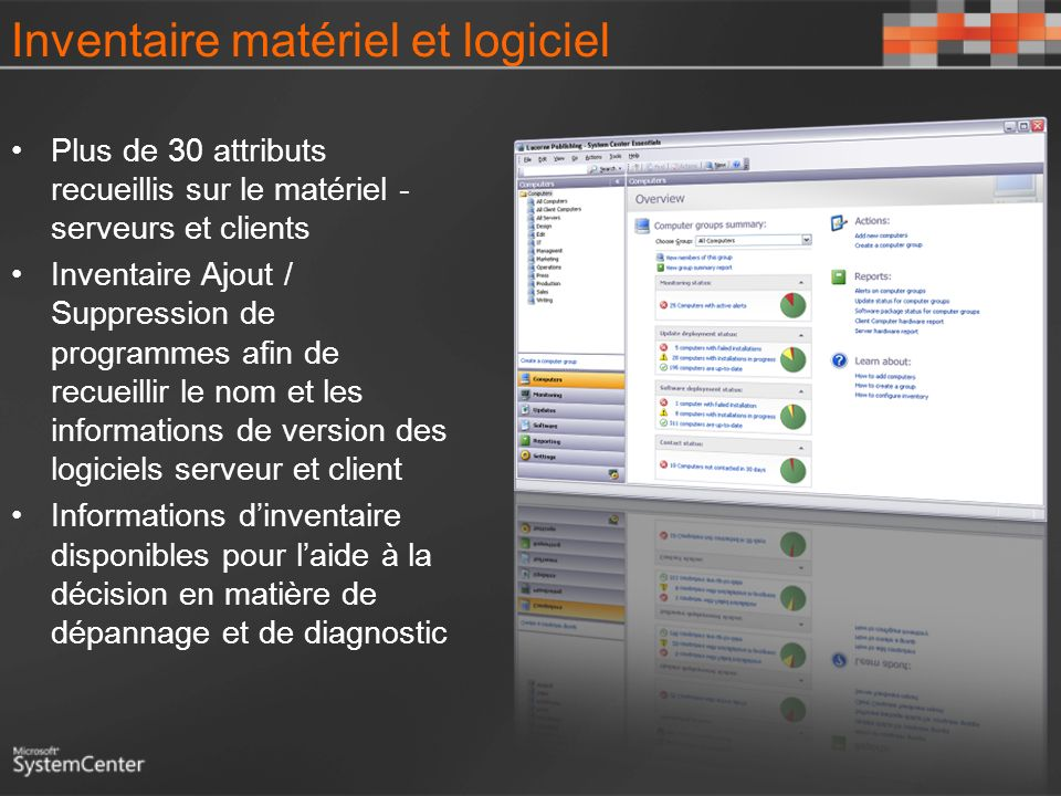 Inventaire matériel et logiciel