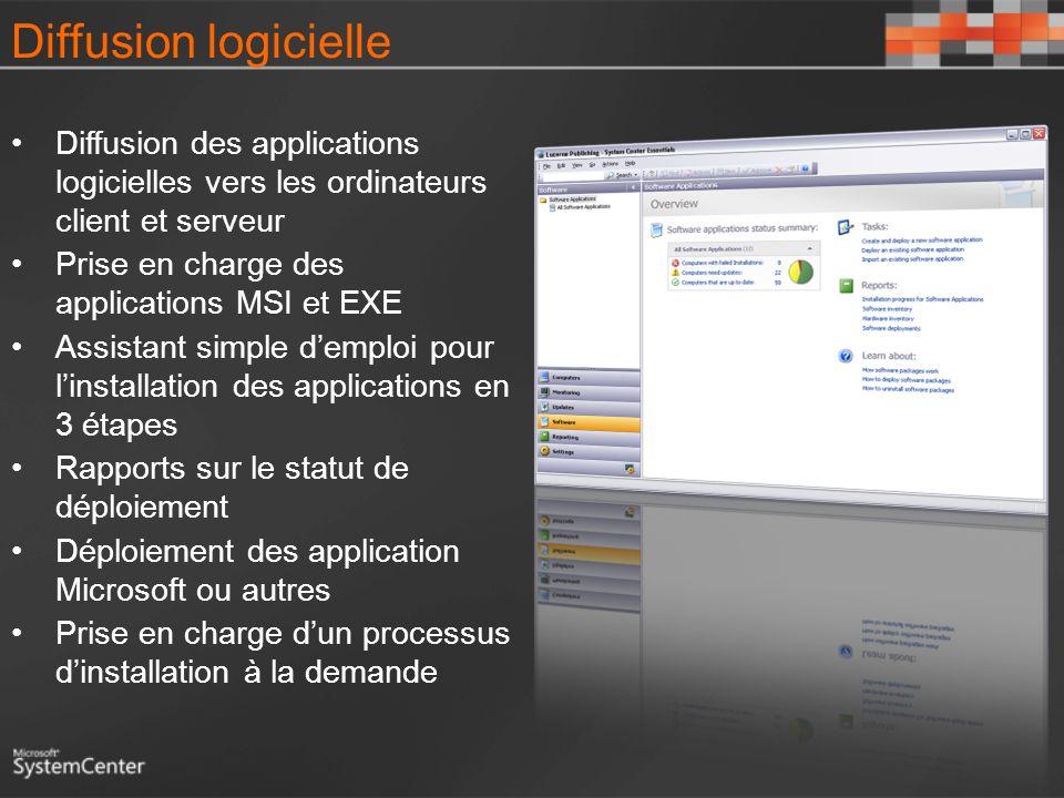 Diffusion logicielle 3/26/2017 3:54 PM. Diffusion des applications logicielles vers les ordinateurs client et serveur.